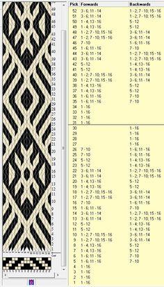 16 tarjetas, 2 colores, repite cada 30 movimientos // sed_279 diseñado en GTT༺❁