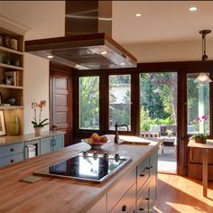 Kitchen Island Hoods island range hood ideas | pot rack, ranges and compact kitchen