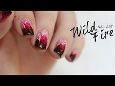 nail art fiammeggiante #nailart