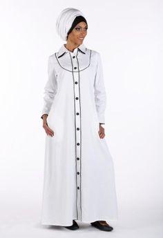 Black and White Abaya, http://suliaszone.com/black-and-white-abaya-black-3xl/