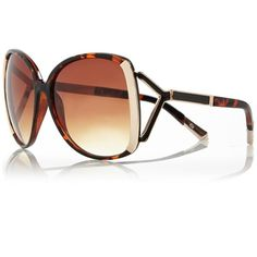 Brown oversized tortoise shell sunglasses featuring polyvore women's fashion accessories eyewear sunglasses tortoiseshell sunglasses oversized eyewear tortoise sunglasses tortoise shell sunglasses oversized glasses