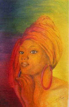 Black Women Art!, African Queen by Corné Kruger