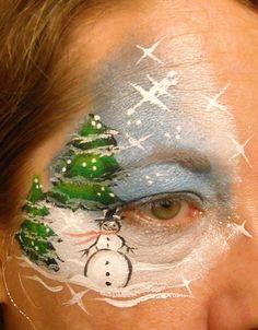 Snowman  Flower Design  Linda Schrenk/Amazing Face Painting by Linda, Jacksonville FL