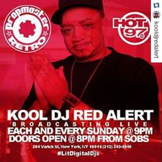 #Repost @kooldjredalert  TODAY (SUNDAY OCT. 4TH) WE BRINGING PROPMASTER RETRO TO THE CLUB THE KOOLEST LEGEND & HOT 97 WILL BE ROCKIN' A LIVE BROADCAST OF THE SHOW AT CLUB SOB's (Sounds of Brazil) 204 VARICK STREET CORNER OF HOUSTON (NYC) DOORS OPEN 8PM #instagood #dj #djs Rap #BattleDjs #ClubDjs #Funk #BreakBeats #Hiphop #Jazz  #Talnts #HouseMusic #Reggae  #RocknRoll  #PopMusic #Seratodj  #VinylRecords  #haveuheardpromo #Brooklyn #NYC #party #turntablism #rap #Dance #radiodj #inst by…