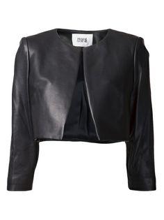 PRABAL GURUNG - cropped lambskin jacket 6  so chic!