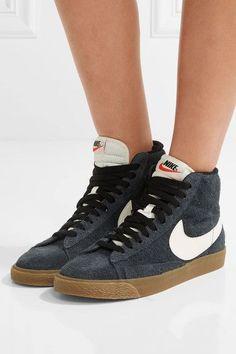 Nike - Blazer Mid Suede High-top Sneakers - Storm blue - US10