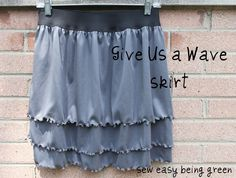sew easy being green: Give Us a Wave Skirt Tutorial