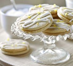 Who could resist a kiss? These dainty melt-in-the-mouth biscuits make a scrumptious addition to an afternoon tea spread Prep: 30 mins Cook: 12 mins: Lemon Desserts, Lemon Recipes, Tea Recipes, Baking Recipes, Cookie Recipes, Dessert Recipes, Drink Recipes, Recipies, Lemon Biscuits
