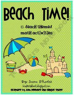 Beach Time! {6 Beach Themed Math Activities}