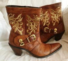 Cowboy Western Ankle Boots, by Heyraud