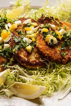 Pork Loin Cutlets with Parsley, Lemon, Capers and Chopped Egg by David Tanis Braised Chicken, Braised Beef, Pork Cutlets, Pork Loin, Chicken Cutlets, Pork Recipes, Cooking Recipes, Cooking Pork, Nytimes Recipes