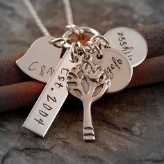 Personalized Mommy Jewelry Hand Stamped by IntentionallyMe