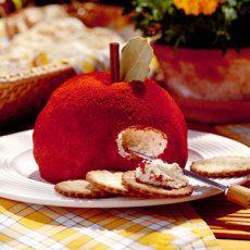 Apple-shaped Cheese Ball