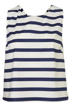 stripe bow back top from topshop... the back of this top is adorable