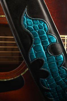 Ethos Custom Brands - Black Water Guitar Strap, $269.00 (http://www.ethoscustombrands.com/black-water-guitar-strap/)