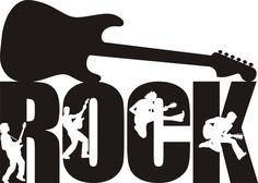 Rock Guitar Decal, Rock Guitar Silhouette, Rock Sticker, Rock Wall Decal