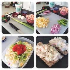 All you need for a healthy shrimp salad: shrimps quark eggs red onion leek caviar dill  salt and white pepper  Healthy and tastes like heaven  #Padgram
