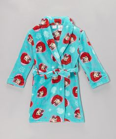 Take a look at this Turquoise Ariel Robe - Toddler & Girls by Disney on #zulily today!