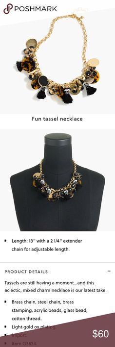 J crew Fun Tassel necklace J crew Fun tassel necklace J. Crew Jewelry Necklaces