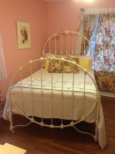 A Full Size Antique Iron Bed Given To Me