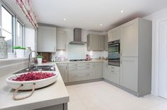 the canterbury bovis homes New Homes For Sale, Property For Sale, Bovis Homes, Kitchen Dinning Room, New Builds, Detached House, Home Kitchens, Kitchen Design, Kitchen Cabinets