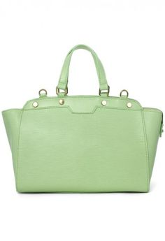 Mint Leather Bag - Mint is very 'in' now. <3