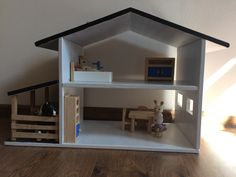 mini doll house with the horse stable