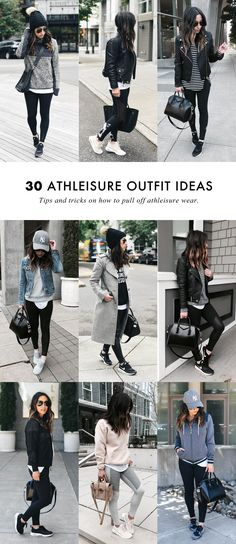 Style tips on how to wear the athleisure trend. #athleisurestyle #athleisure