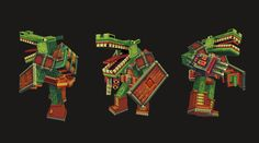3d characters pixel art style low poly - Google Search