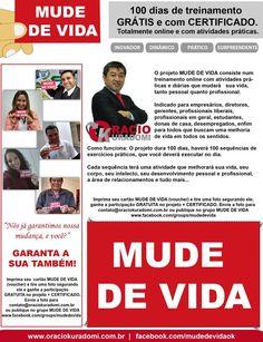 vvvMUDE DE VIDA - 100 dias de treinamento GRÁTIS com CERTIFICADO  www.facebook.com/mudedevidaok