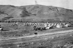 A British Hospital and camp in the hills of Moab, Jordan. British Army, Palestine, Rifles, Westminster, Soldiers, Egypt, Horses, Queen, Mountains