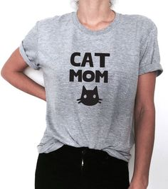 Cat mom T shirt and like OMG! get some yourself some pawtastic adorable cat apparel!