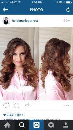 Hot roller curls from the Hair and Makeup Girl, Heidi Marie Garrett