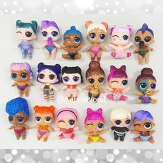 "Here are the color changes for all the @lolsurprise Series 3 Wave 2 Lil Sisters! They were in the freezer for only about an hour so the changes aren't as vibrant as they could be. And some quickly started to ""defrost"" making them look a bit sweaty under our lights. Still cute though!         LOL Surprise Dolls Doll Lil Sisters Party Ideas Gift Confetti Big Surprise Series 3"