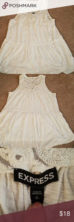Lace top tank Cute thank with lace on top perfect for summer Express Tops Tank Tops