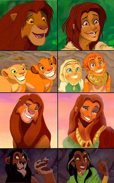 Lion King as People