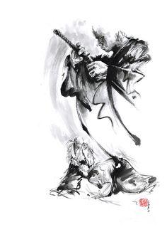 Martial Arts Japan Warrior Aikido Poster. Painting