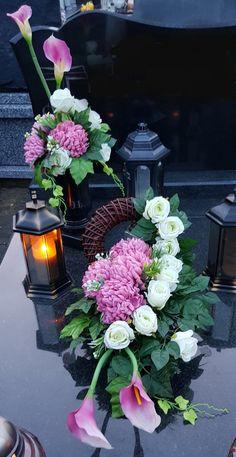 Funeral Flower Arrangements, Funeral Flowers, Felt Flowers, Fabric Flowers, Vence, Grave Decorations, Sympathy Flowers, Ikebana, Flower Art