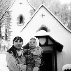 Audrey with her son Sean in Switzerland, 1962