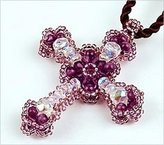 Free bead Cross pattern