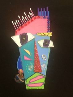 Check out student artwork posted to Artsonia from the Personalities- Grade 5 project gallery at Gattis Elementary School. Art From Recycled Materials, Recycled Art, 7th Grade Art, Cardboard Sculpture, African Theme, Creative Activities For Kids, 242, Easy Art Projects, Unusual Art