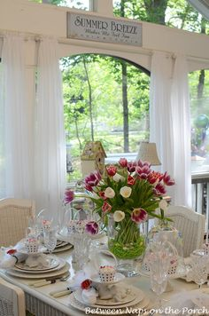 "Always in love with ""Between Naps on the Porch"" beautifully decorated screened porch!  Gotta have one!"