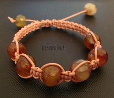 Carnelian Charm Shambala Bracelet evil eye Natural Gemstone Nugget