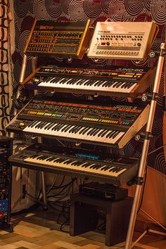 Here's the Roland TR-909, JUNO-60 and JUPITER-8. All great Roland products of…