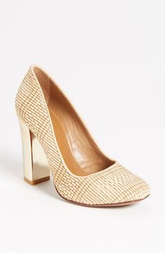 Just saw these in O Magazine and they looked amazing.  Had to have and they are on sale.  OMG...love for summer.  Tory Burch 'Clay' Pump  (Nordstrom Exclusive) | Nordstrom