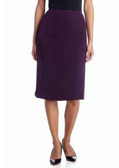 Kasper  Plus Size Solid Pencil Skirt
