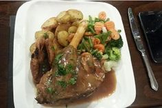Our oven roasted Lamb Shank, served with fresh mint gravy. #LoveLocal #InPlymouth #Barbican #loveplymouth