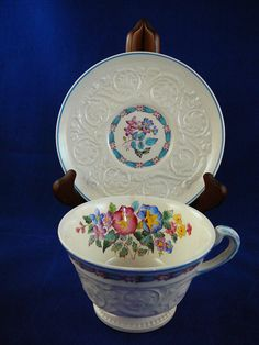 Vintage Wedgewood Morning Glory Teacup and by JulianosCorner - SOLD
