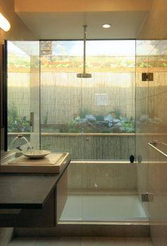 Japanese inspired bath; Mark Brand Architecture