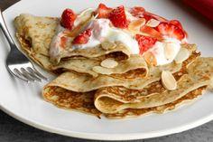 Strawberry, toasted almond and caramel pancakes - Parentdish UK